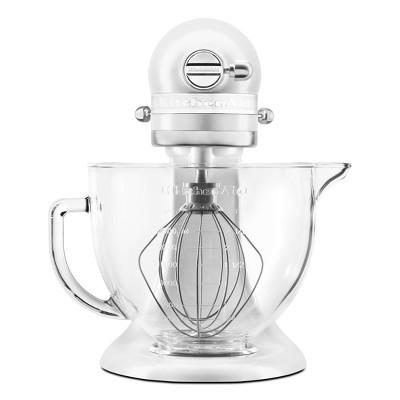 KitchenAid 5qt Glass Bowl Tilt-Head Stand Mixer with Flex Edge Beater - White - KSM154GBQ3FW