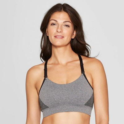 Women's Nursing Yoga Bra - Auden™ Heather Gray L