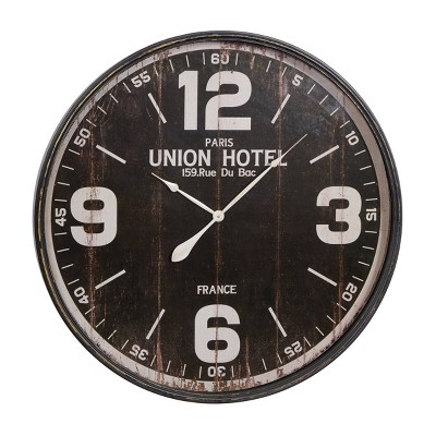 """35"""" x 35""""Large Round Wall Clock with Numbers Black/White - Olivia & May"""