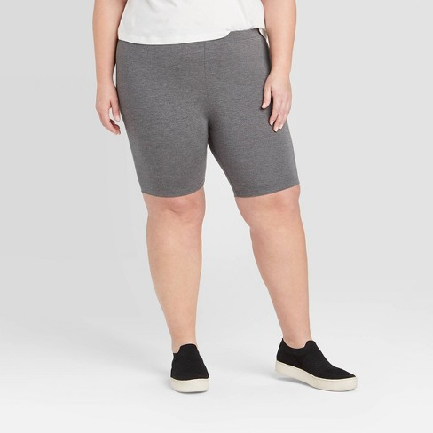 Women's Plus Size Midi Bike Shorts - Ava & Viv™  - image 1 of 2