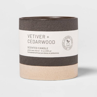 9oz Wellness Ceramic Vetiver and Cedar Wood Candle - Project 62™