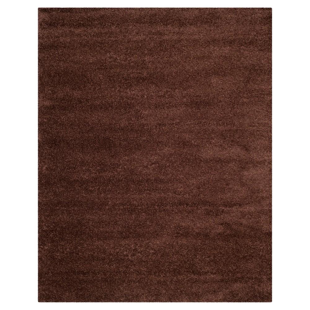 Brown Solid Shag/Flokati Loomed Area Rug - (8'6X12') - Safavieh