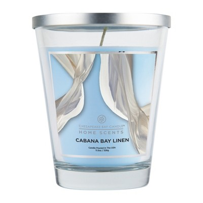 11.5oz Lidded Glass Jar Candle Cabana Bay Linen - Home Scents By Chesapeake Bay Candle