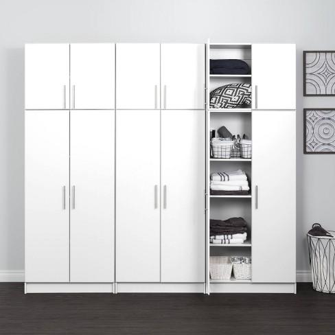 6 Storage Cabinet Set White Prepac, Target Storage Cabinets Furniture