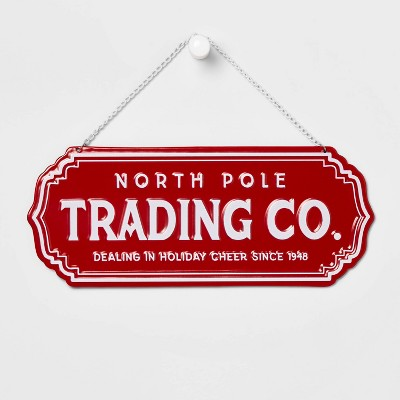 North Pole Trading Co Metal Decorative Sign - Wondershop™