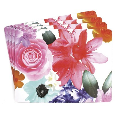 Large Hardboard Coral Placemat (4 Pack)- Ladelle