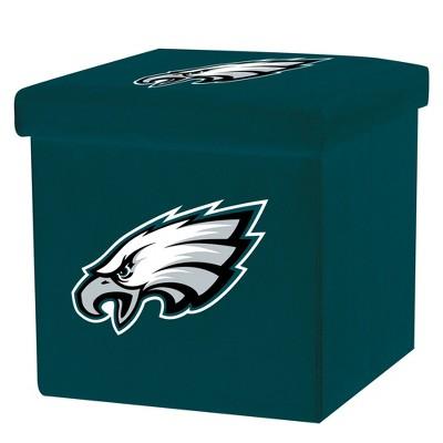 NFL Franklin Sports Philadelphia Eagles Storage Ottoman with Detachable Lid