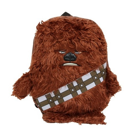 "Star Wars 16"" Chewbacca 3D Plush Arms and Legs Kids' Backpack - Brown - image 1 of 5"