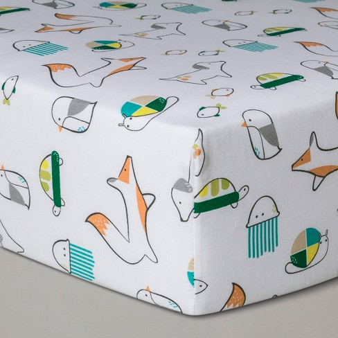 Crib Fitted Sheet Sweet Critters - Cloud Island™ - image 1 of 2