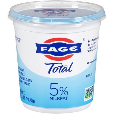 FAGE Total 5% Milkfat Plain Greek Yogurt - 35.3oz