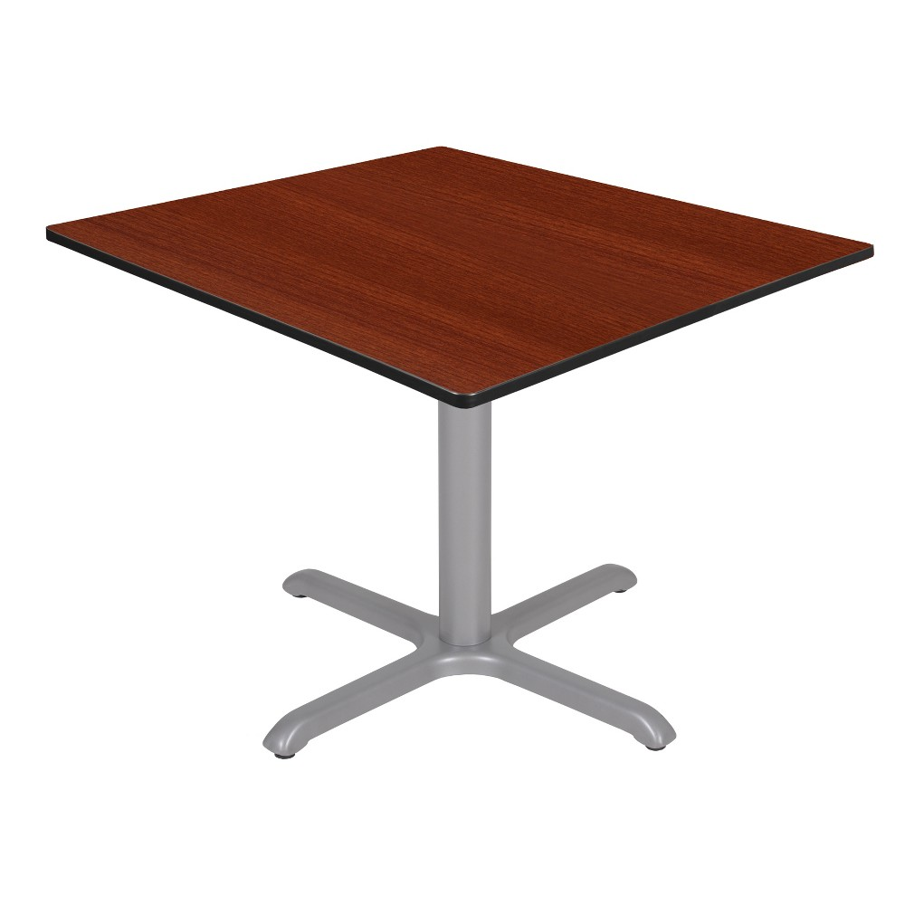 42 Via Square X - Base Table Cherry/Gray (Red/Gray) - Regency