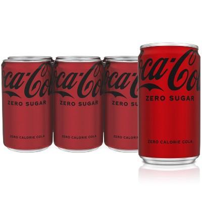 Coca-Cola Zero Sugar - 6pk/7.5 fl oz Mini-Cans