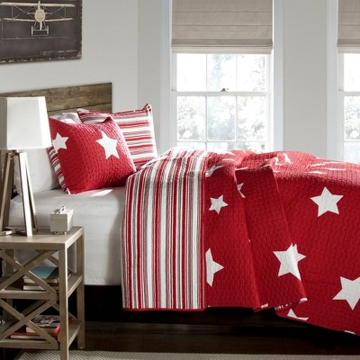 Star Quilt Set Red - Lush Décor
