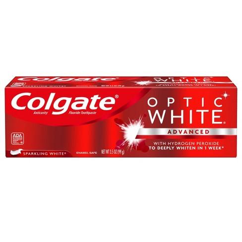 Colgate Optic White Whitening Toothpaste Sparkling White - 3.5oz - image 1 of 4