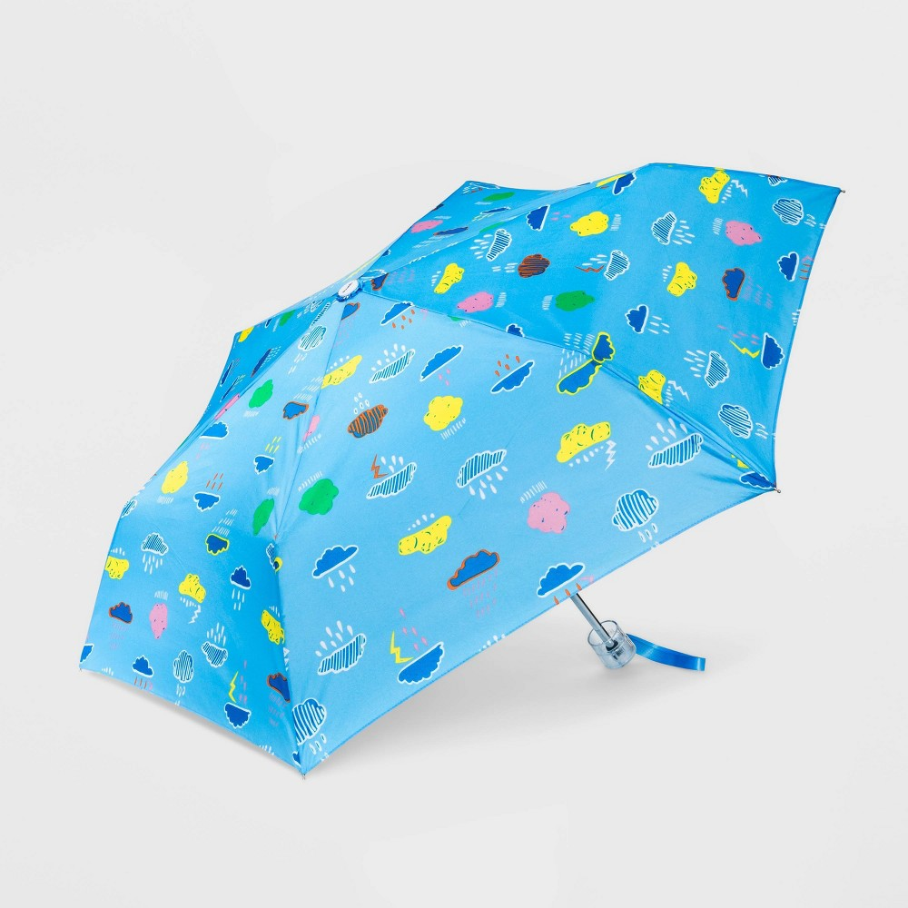 Image of Cirra by ShedRain Women's Fun Conversational Manual Compact Umbrella - Light Mint, Adult Unisex, Size: Small, Blue