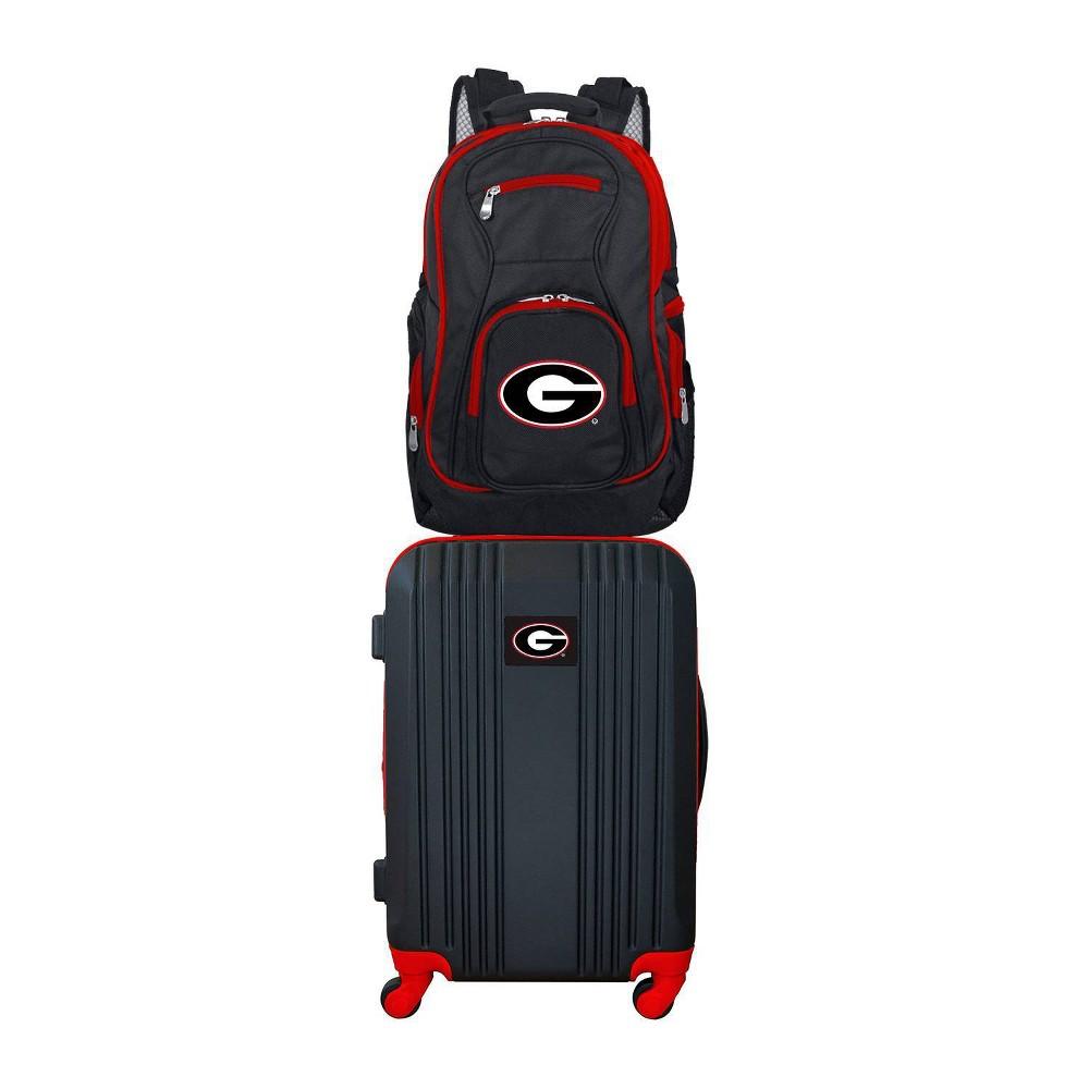 NCAA Georgia Bulldogs Premium 2pc Backpack & Carry-On Luggage Set