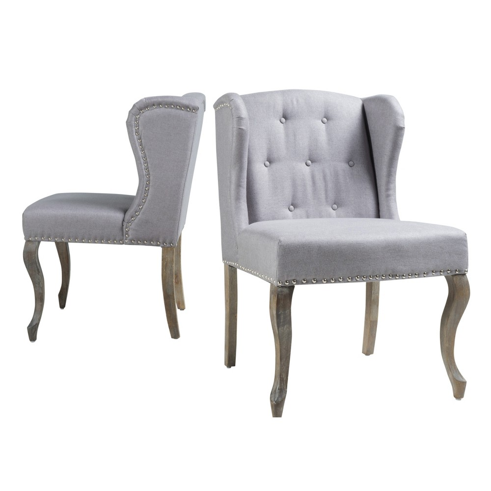 Niclas Accent Chair - Light Gray (Set of 2) - Christopher Knight Home