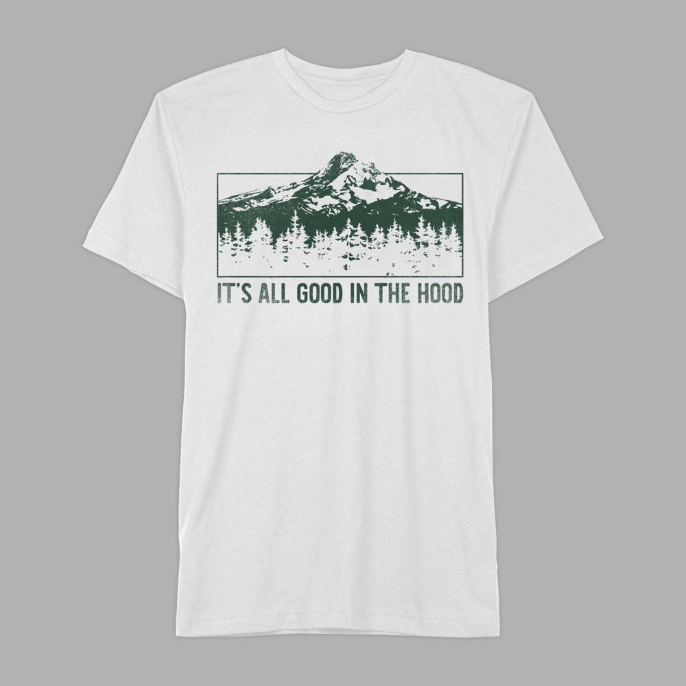Men's Short Sleeve It's All Good in the Hood Graphic T-Shirt - Awake White M