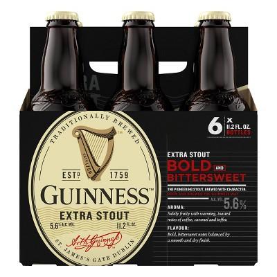 Guinness Extra Stout Beer - 6pk/11.2 fl oz Bottles