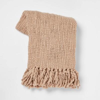 Chunky Woven Throw Blanket Neutral - Threshold™