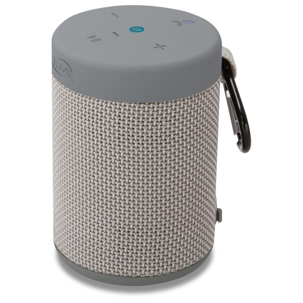 iLive Audio Waterproof, Shockproof Bluetooth Speaker with Speakerphone - Grey (ISBW108LG), Light Gray