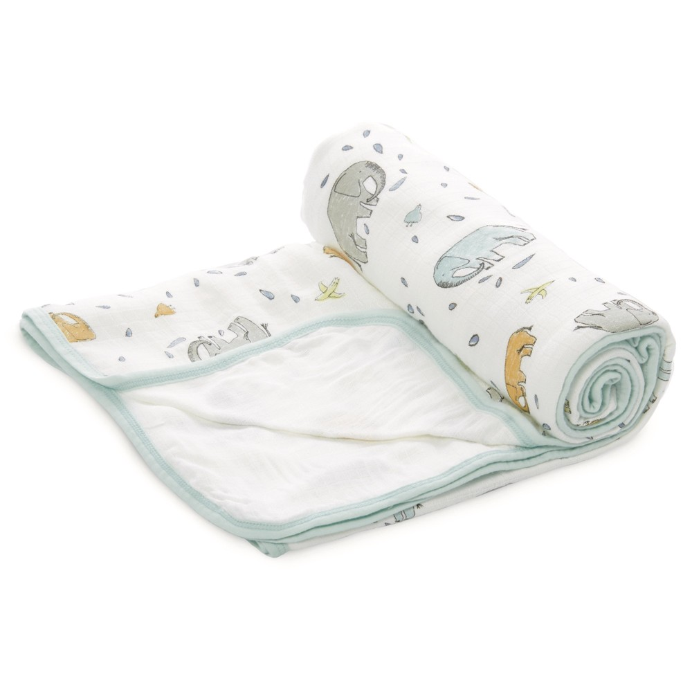 Image of aden by aden + anais Baby Blanket - Ellie Parade, White