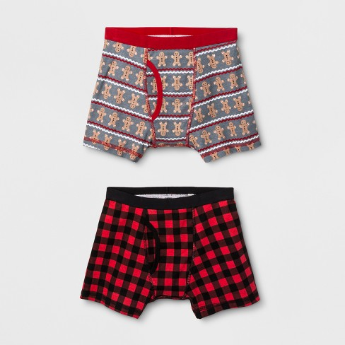 Boys' 2pk Holiday Boxer briefs - Cat & Jack™ M - image 1 of 1