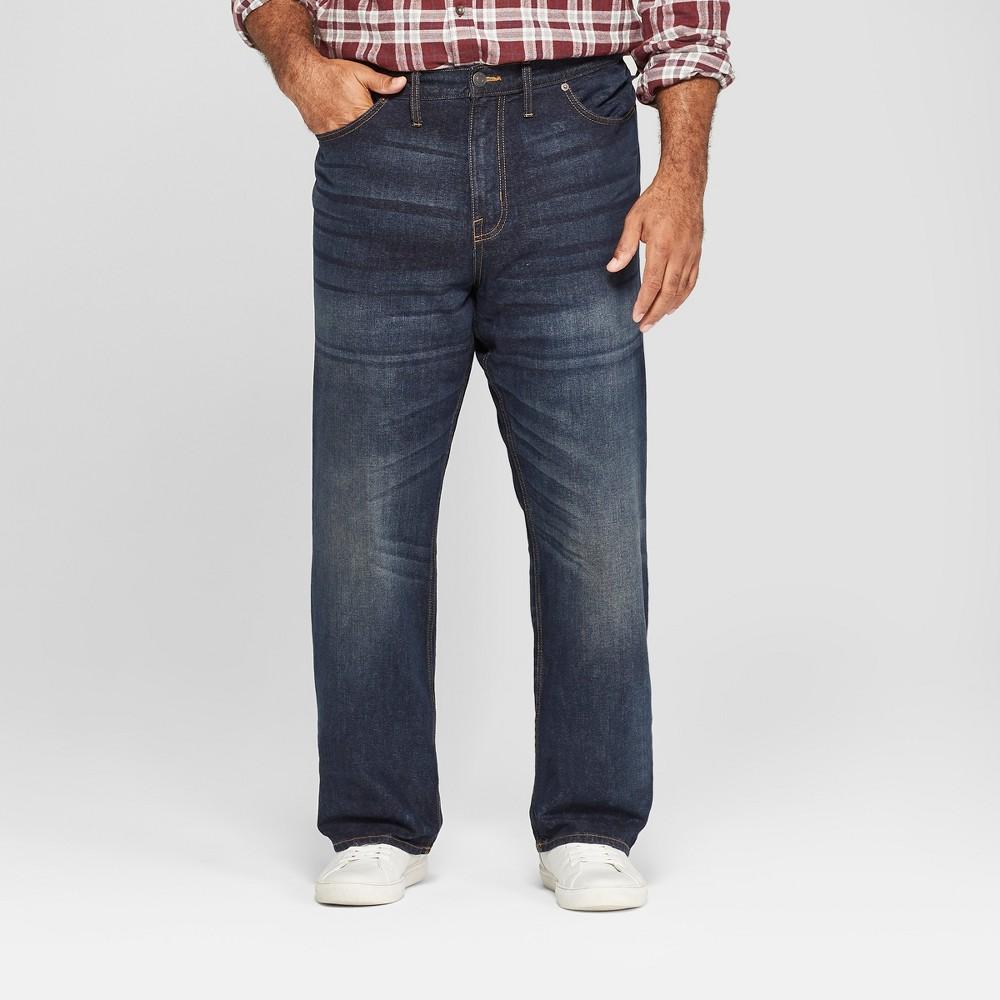 Men's Big & Tall Straight Fit Jeans - Goodfellow & Co Dark Wash 50x32, Blue