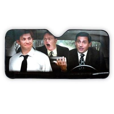 Just Funky The Office Sun Visor for Car Windshield | 57 x 28-Inch Window Shade for Car