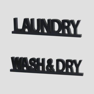 2pc Wood Decor Laundry - Bullseye's Playground™