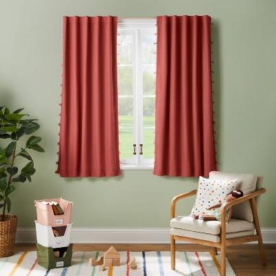 "63"" Blackout Tassel Curtain Panel Rose Pink - Pillowfort™"
