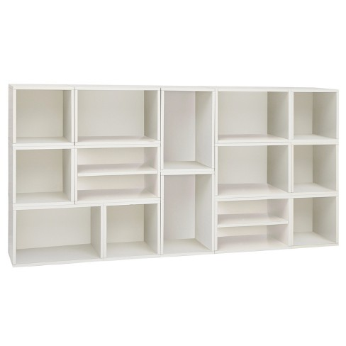 Way Basics Rome Modular Bookcase Shelving Eco Friendly Formaldehyde Free White Lifetime Guarantee