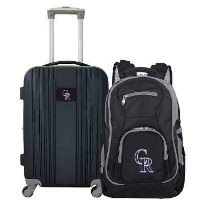 MLB Colorado Rockies 2 Pc Carry On Luggage Set