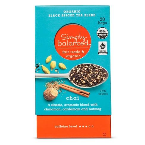 Chai Organic Black Spiced Tea Blend - 20ct - Simply Balanced™ - image 1 of 1