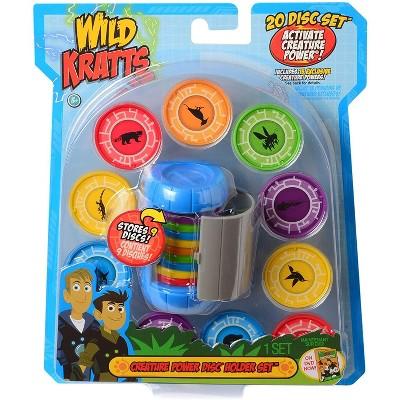 Jazwares Wild Kratts Creature Power Disc Holder Set Toy, 20 Discs - Martin