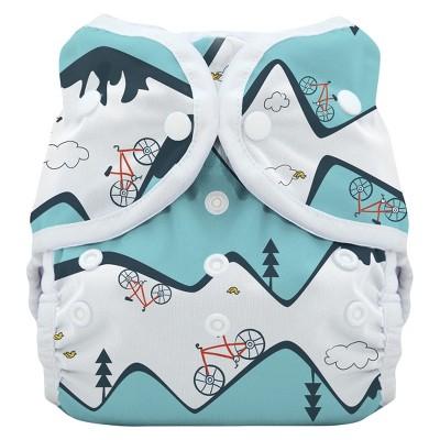 Thirsties Snap Duo Wrap Diaper, Size Two - Mountain Bike