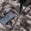 Grayson Mini Baby Sherpa Hoodie Romper - Dark Gray - image 3 of 4