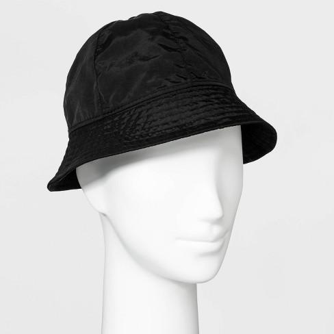Women's Nylon Bucket Hat - Wild Fable™ Black - image 1 of 1