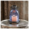 "Smart Living 11"" Monaco Glass LED Candle Outdoor Lantern - Blue - image 3 of 4"