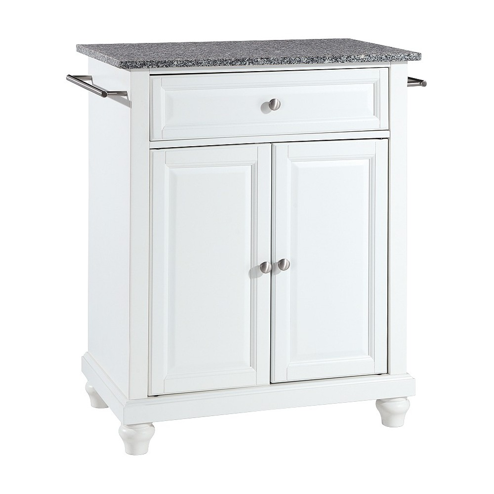 Cambridge Solid Granite Top Portable Kitchen Island - White - Crosley