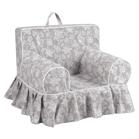 Addison Skirted Grab-N-Go Kids' Foam Chair With Handle - Madelyn Cove With White Welt - Kangaroo Trading Co. - image 1 of 1
