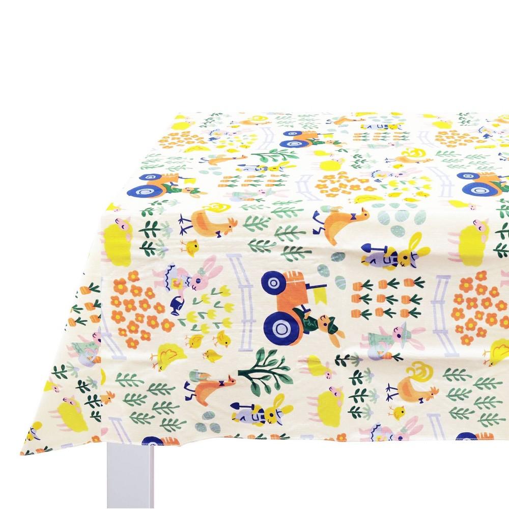 Tablecover Peva Easter Farm Scene Spritz 8482
