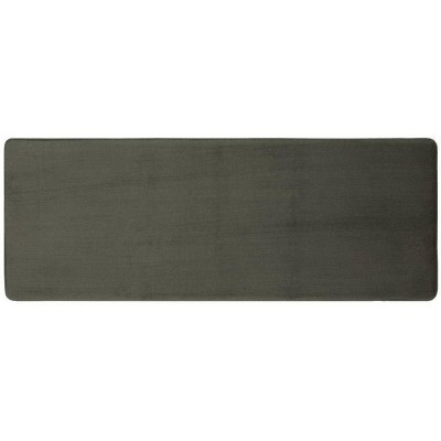 "22""x60"" Velveteen Memory Foam Bath Rugs and Mats Pigeon Gray - Room Essentials™"