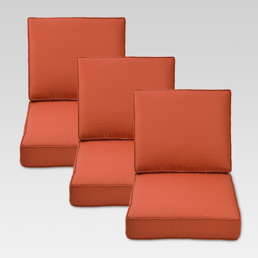 Belvedere 6pc Replacement Outdoor Sofa Cushion Set - Orange - Threshold