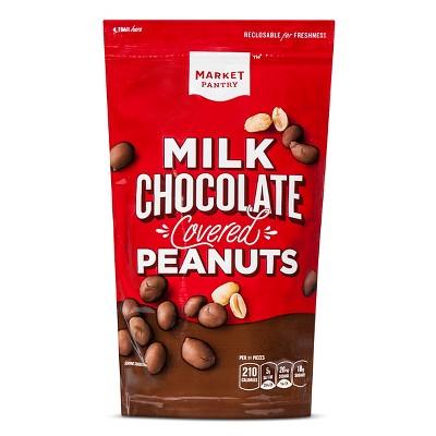 Milk Chocolate Covered Peanuts - 9oz - Market Pantry™