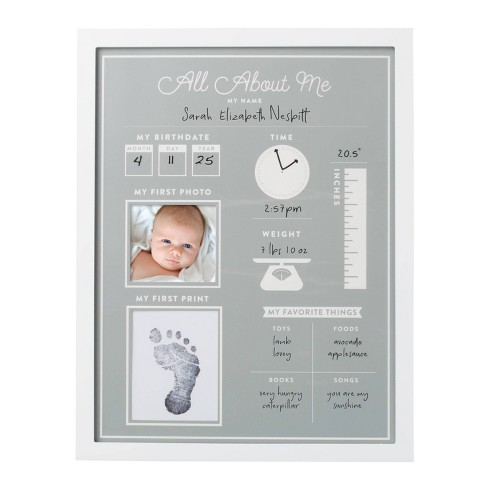 """Pearhead All About Me 3"""" x 3"""" Frame - Gray/White - image 1 of 4"""