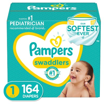 Pampers Swaddlers Disposable Diapers - Size 1 (164ct )
