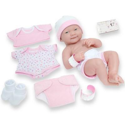 "JC Toys La Newborn 14"" Baby Doll 8pc - Pink"