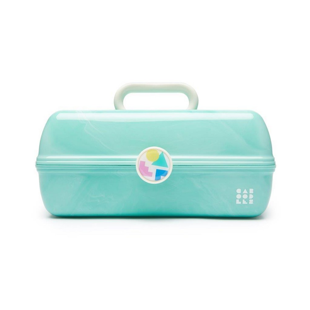 Retro Caboodles On the Go Girl Case Seafoam Marble