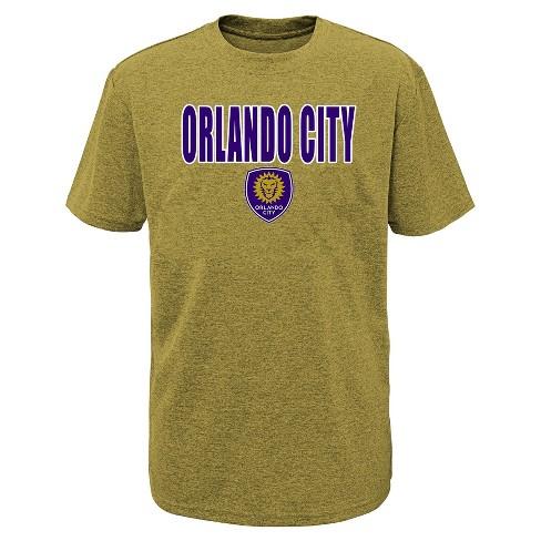 MLS Boys Short Sleeve Black Poly T-Shirt Orlando City SC - image 1 of 1